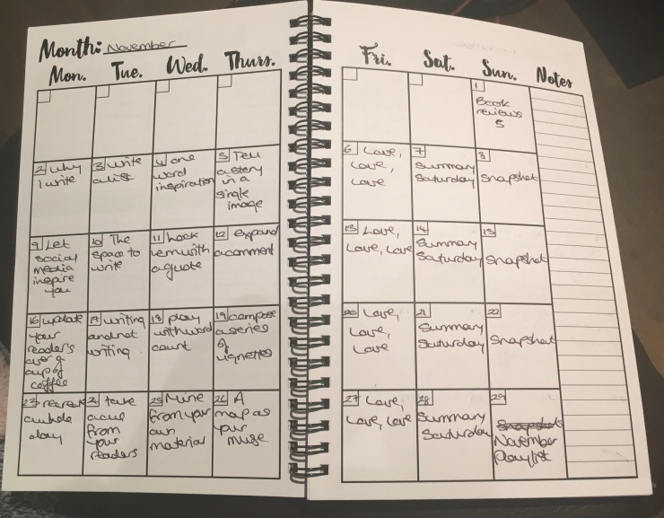 Monthly breakdown, inside my planner