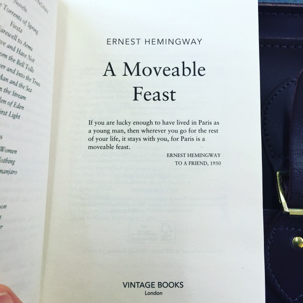 A Moveable Feast, Book 11, 2016 Reading Challenge