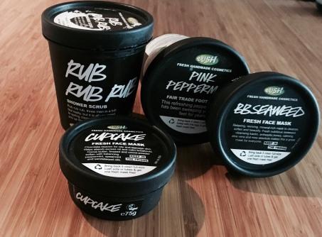 Lush Chat 5, Rub Rub Rub, BB Seaweed, Cupcake, Pink Peppermint